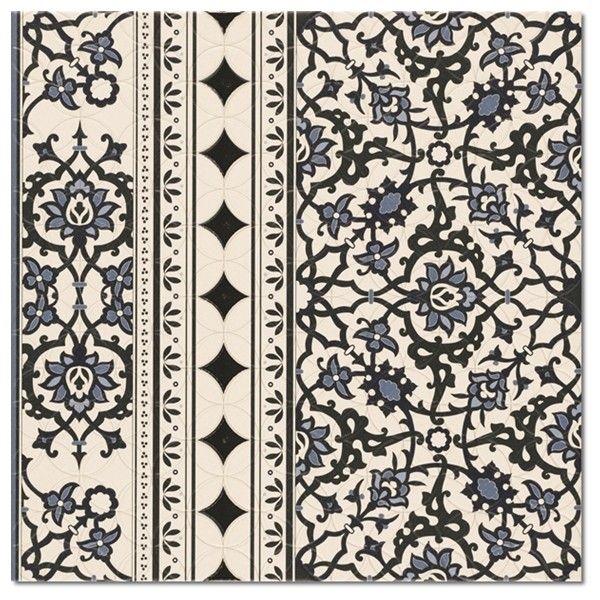 Kolekcja Orly - płytki podłogowe Orly Deco Cenefa 44x44