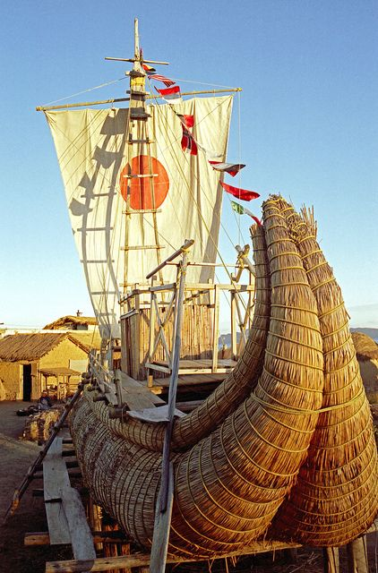 Reed boats, Lake Titicaca, Bolivia. Totora reeds grow in South America, particularly around Lake Titicaca. These reeds have been used by various pre-Columbian South American civilizations to build reed boats. The boats, called balsa, vary in size from small fishing canoes to around 98 ft. long.