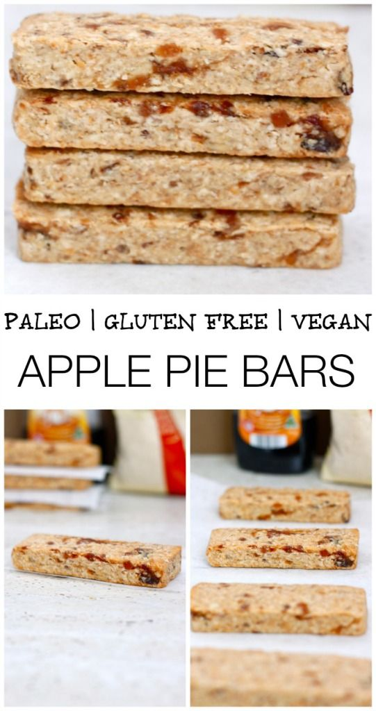 A delicious, baked Apple Pie flavoured bar- healthy, filling and a wholesome snack choice which fits the Paleo, Gluten Free or even Vegan diet lifestyles! High in protein and very low in sugar! #paleo #glutenfree #vegan