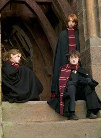 ハリー・ポッターと炎のゴブレットのハリーとロンとハーマイオニー・グレンジャー