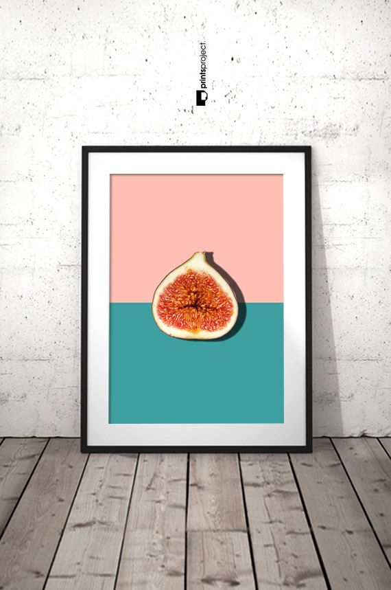 Tropisch Fruit Art keuken wand Poster Fig halve Slice