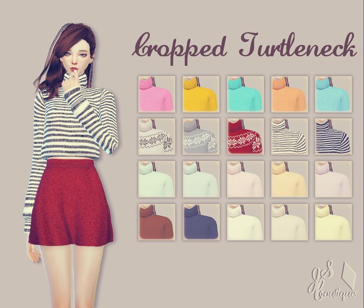 Cropped TurtleneckDOWNLOAD: google drive II adfly… – JSBoutique | Sims 4 Updates -♦- Sims Finds & Sims Must Haves -♦- Free Sims Downloads                                                                                                                                                                                 More
