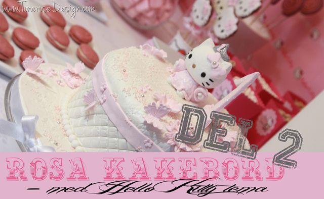 Hello Kitty rosa kakebord dessertbord