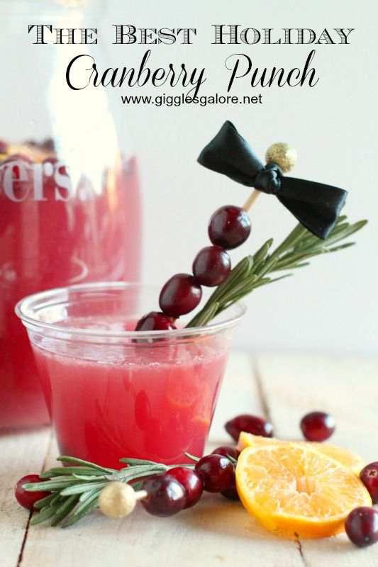 Holiday Cranberry Punch is easy, refreshing and sweet, the perfect drink for all of your holiday celebrations.