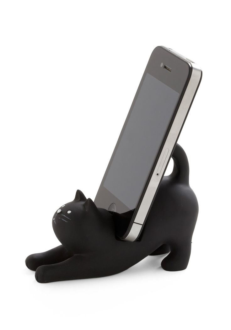 kitty-cat phone standCats, Cat Phones, Stuff, Phones Stands, Phones Holders, Call Phones, Retro Vintage, Black Cat, Cat Lady