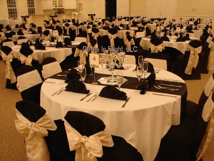 black and champagne wedding  | White Poly with Pink Sparkling Organza, Beaumont Room, E Lansing ...
