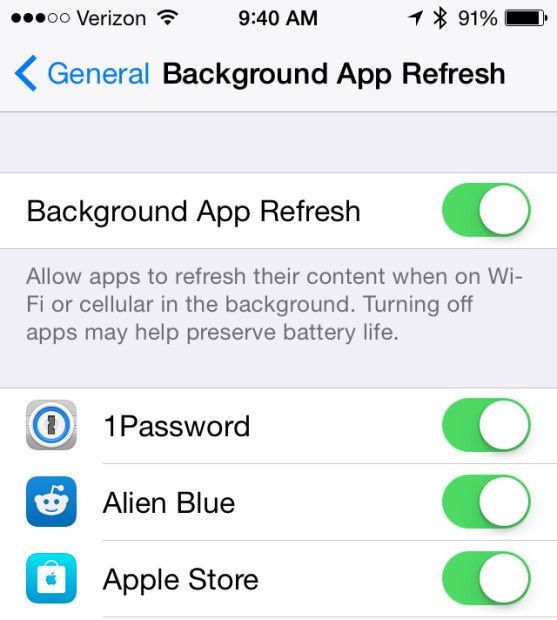 Turn off iOS 8 Background App Refresh for better battery life. http://catchup.podomatic.com/