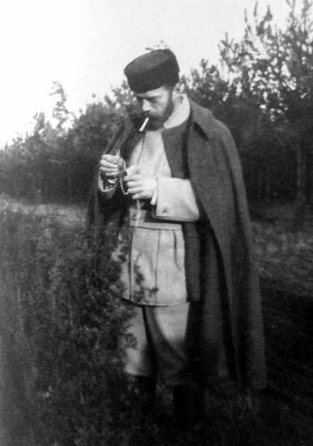 Czar Nicholas II, Anastasia's father. And, yes, he is lighting up a match.