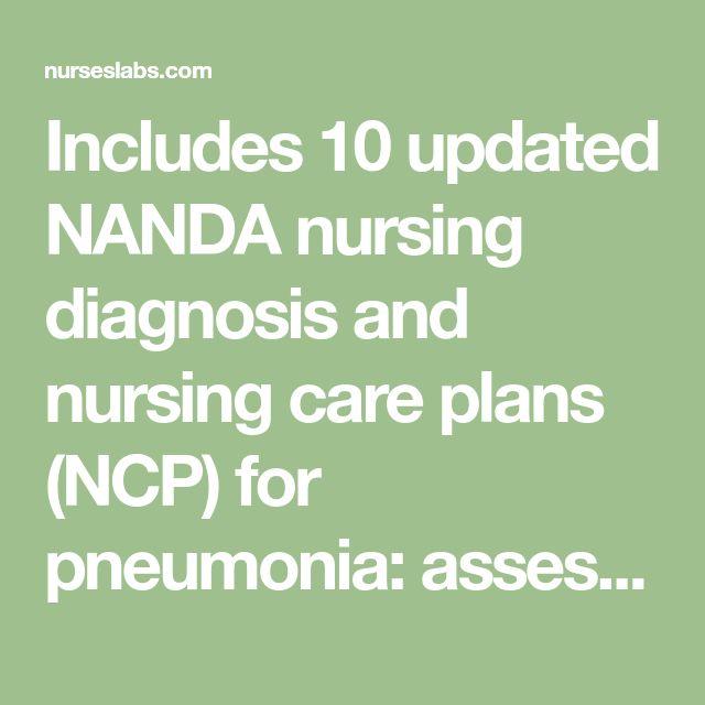 Pneumonia Nursing Care Plans: 10 Nursing Diagnosis ...