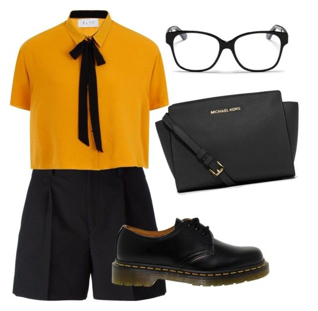 Tomboy can be very fashionable. by creece-massoudi on Polyvore featuring polyvore, fashion, style, Elvi, Yves Saint Laurent, Dr. Martens, MICHAEL Michael Kors, Christian Dior and clothing