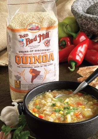 Sopa de Quinoa—quinoa soup, inspired by a traditional quinoa dish eaten in South and Central America