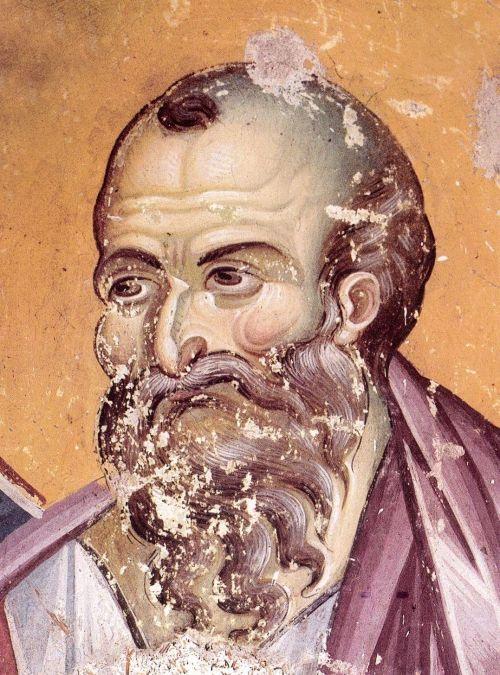 The Apostle Paul. Protaton. Фрески собора Протата в Карее, Афон XIII в. - Мануила Панселина. Часть 1 (80 фото)