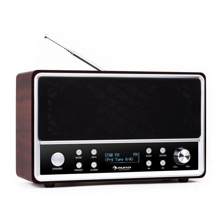 Auna Charleston - Radio numérique look vintage avec tuner DAB+, FM, RDS, double alarme et sleep-timer: Amazon.fr: High-tech