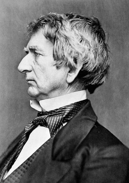 """Photo: William Henry Seward. Credit: Library of Congress, Prints and Photographs Division; Wikimedia Commons. Read more on the GenealogyBank blog: """"Seward's Alaska Purchase Not 'Folly.'"""" https://blog.genealogybank.com/sewards-alaska-purchase-not-folly.html"""