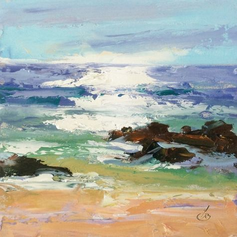 SPARKLING+SEA+by+TOM+BROWN,+painting+by+artist+Tom+Brown