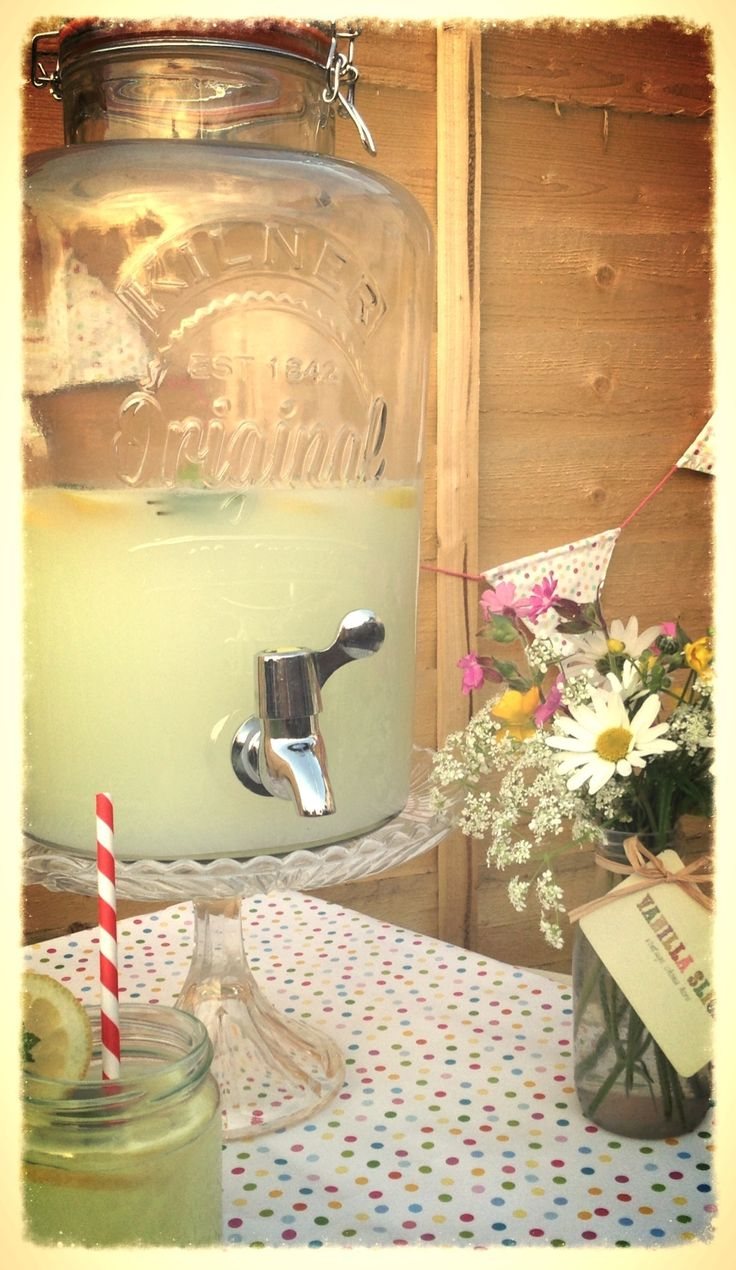 Cloudy lemonade in our drink dispenser!