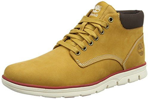 Timberland Bradstreet Leather, Bottes Classiques homme – Beige – Beige (Wheat), 43