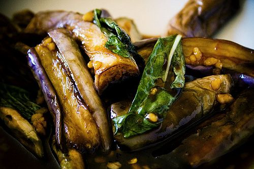 Spicy Thai basil eggplant makes a great appetizer with dinner or a light lunch. Basic ingredients make this Thai recipe a quick on to stir-fry together in less than 30 minutes. The recipe can be tweaked for your enjoyment. A little more Thai chili pepper to make it really hot or possibly some extra Thai basil to really add some flavor. Either way t