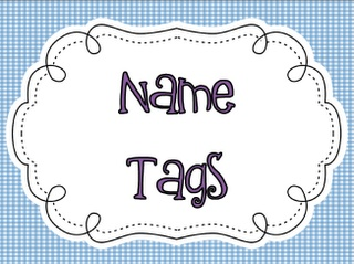 Live, Love, Laugh Everyday in Kindergarten: Name Tags