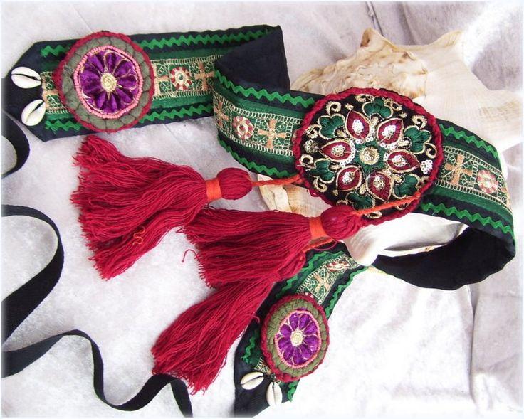 Danza del ventre tribale verde cintura con nappe rosso di LolenaLuna su Etsy https://www.etsy.com/it/listing/285537921/danza-del-ventre-tribale-verde-cintura