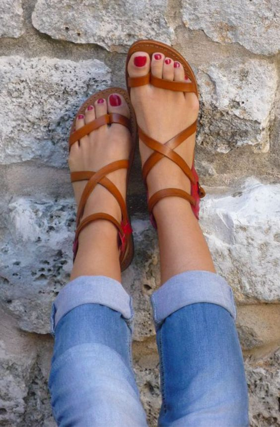 Strappy sandals are a summer essential! Dress them up by pairing them with a cute dress or go for a more casual look by pairing them with shorts or jeans!