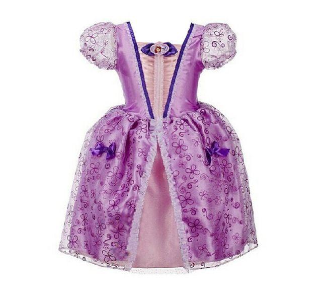 Verão novo Flor Meninas Elsa Vestido Rapunzel para Meninas Vestido de Festa para Crianças Vestido de Princesa Sofia Roupas Crianças Traje de Dama de honra