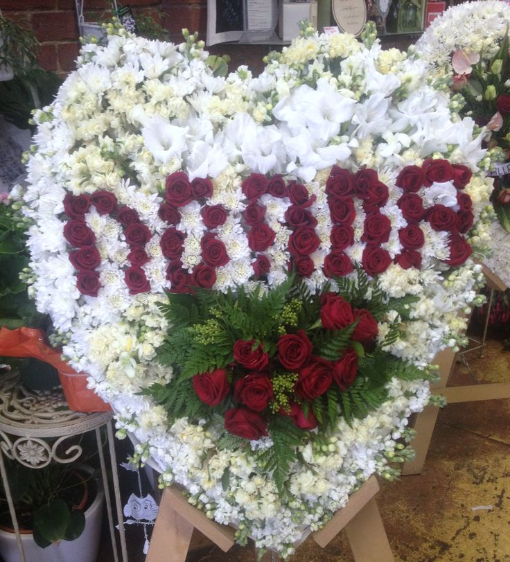 Heart Funeral Floral Design