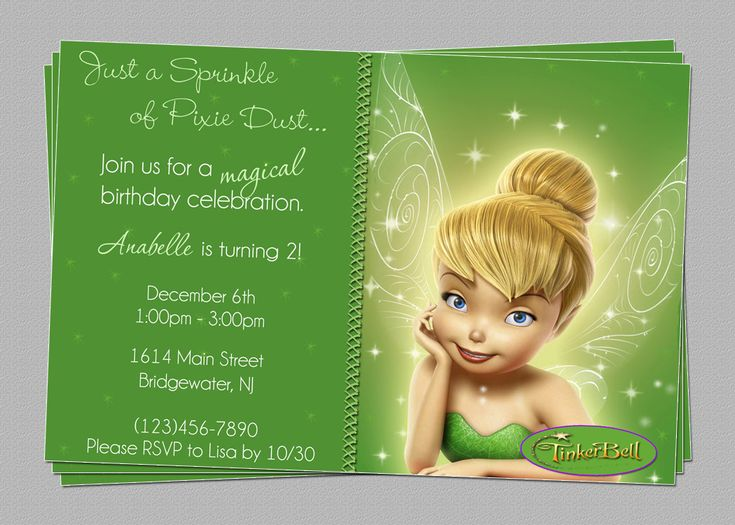 18 best Tinkerbell Party images – Tinkerbell Party Invitation Ideas