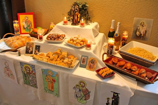 March 19 - Feast of St. Joseph - St. Joseph Altar