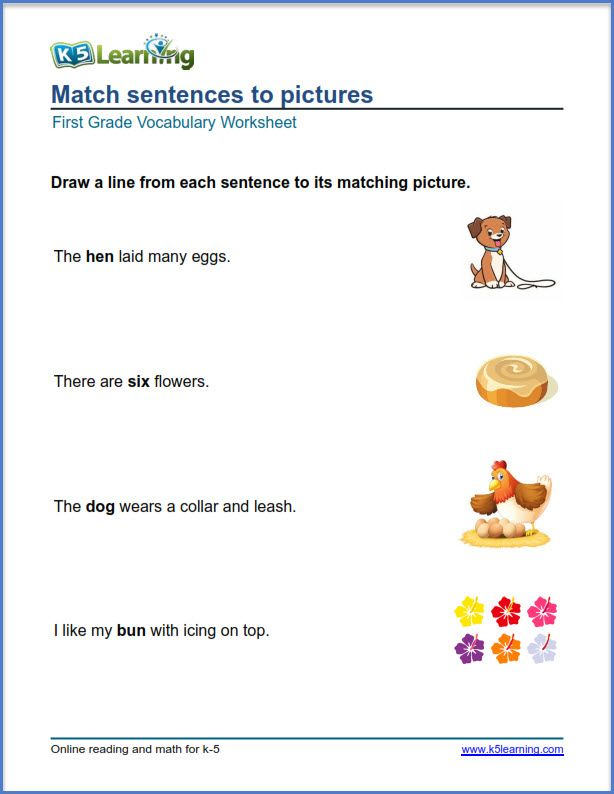 grade 1 math pictures to sentences | Vocabulary worksheets ...