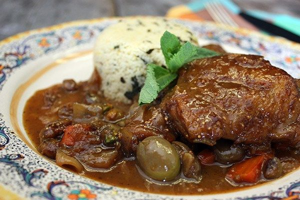 Pan Braised Moroccan Chicken Thighs