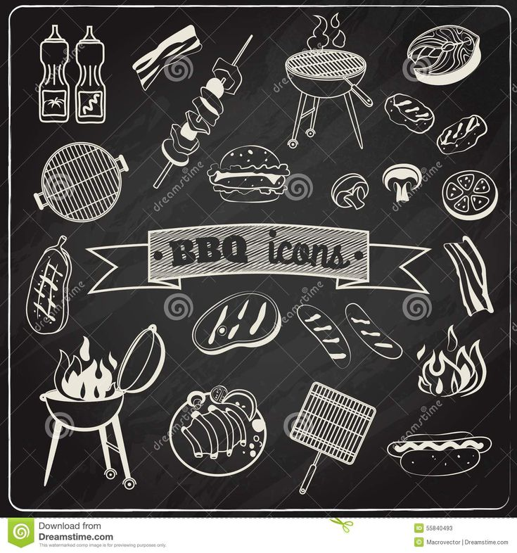 Barbecue Chalkboard Set - Download From Over 44 Million High Quality Stock Photos, Images, Vectors. Sign up for FREE today. Image: 55840493