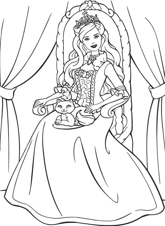 barbie coloring pages pinterest gallery