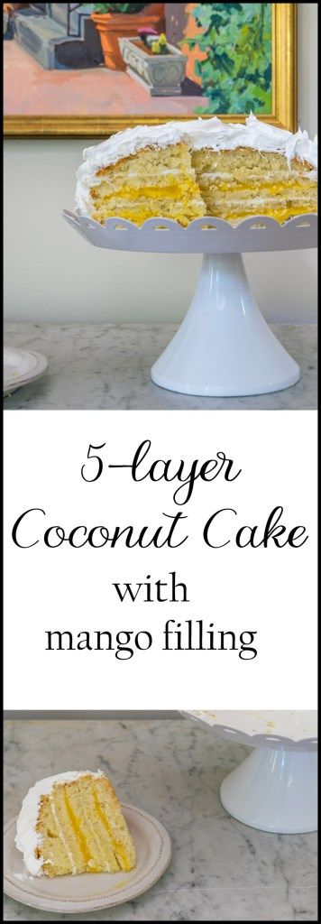 A recipe for a luscious coconut cake with mango filling and rum/coconut frosting. Need a perfect dessert for your next special day?
