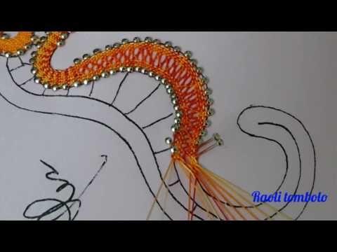 (6) Merletto a tombolo - Progetto Cavalluccio marino 3a parte - YouTube