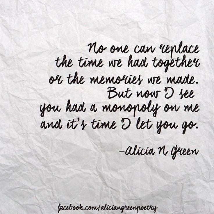 Let Go Poem Quote By Alicia N Green