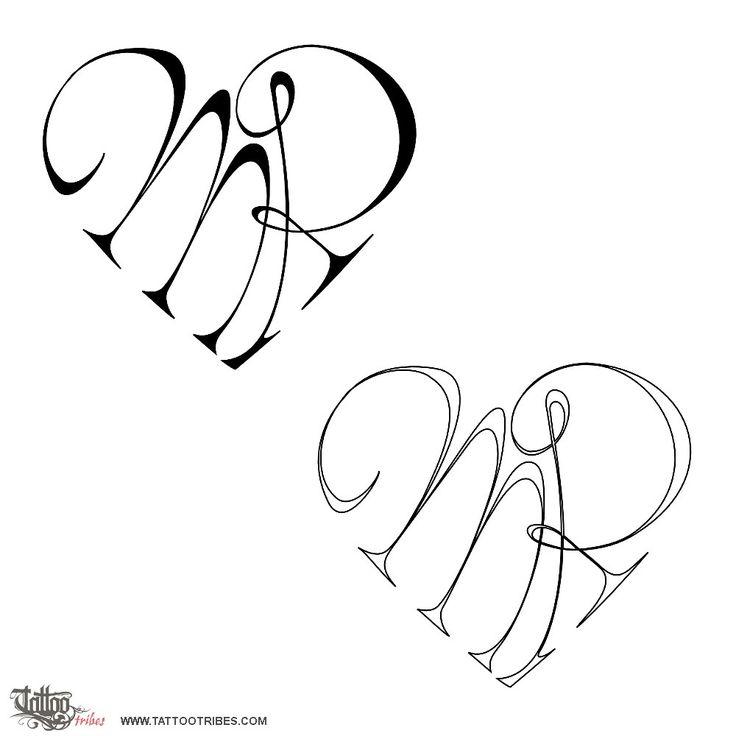 Tatuaggio di Cuore M+R, Unione, amore tattoo - custom tattoo designs on TattooTribes.com