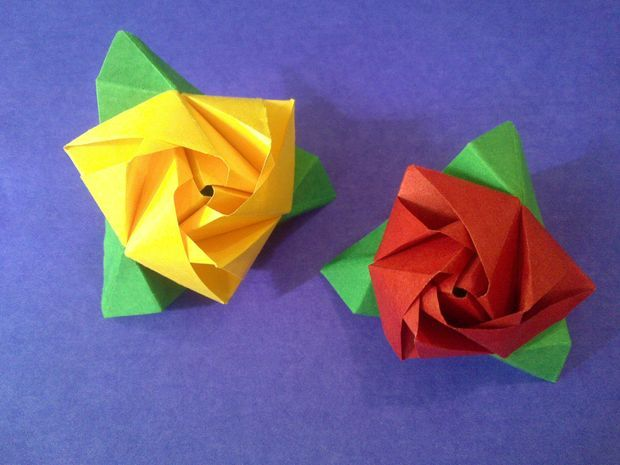 Roses made from sticky notes!