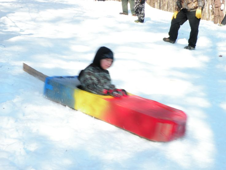 how to make a sled out of cardboard