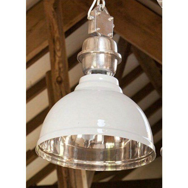 Light and living clinton hanging lamp epoxy white 3040538