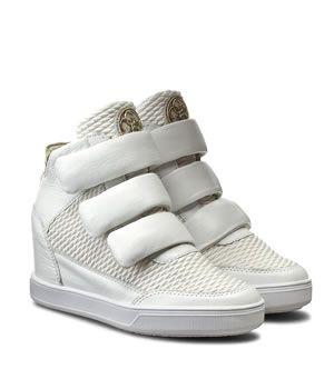 Pantofi Sport Cu Platforma Guess Albi Din Piele