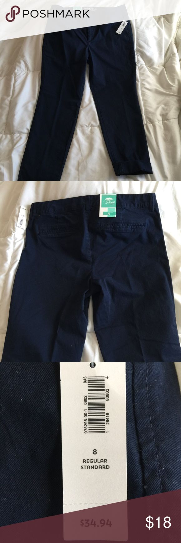 NWT Old Navy ankle length pixie slacks pants 8 These slacks are brand new with the tags attached. Size 8 Old Navy Pants Ankle & Cropped