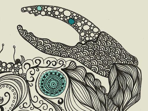 Sea creatures #2 by Rachel Russell, via Behance
