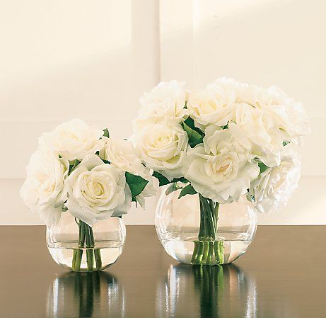 pictures of small round vase with roses in it | simple, but elegant arrangement…
