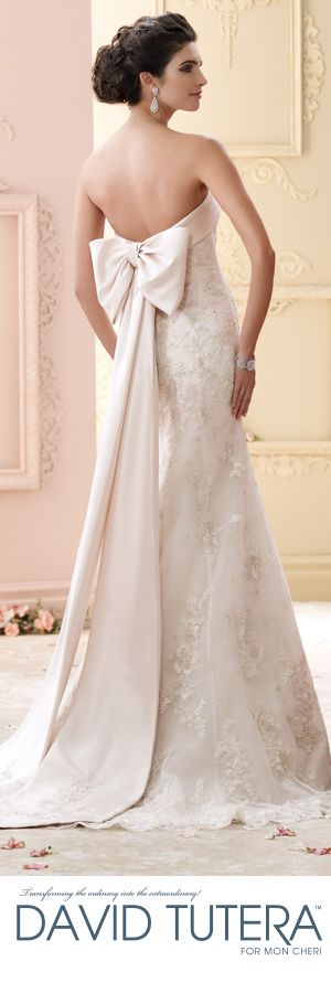 Exclusive World Preview of David Tutera for Mon Cheri Fall 2015 Bridal Collection #Weddings