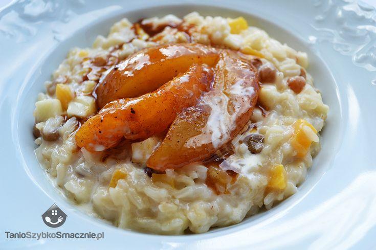 Kokosowy ryż z karmelizowanymi gruszkami.