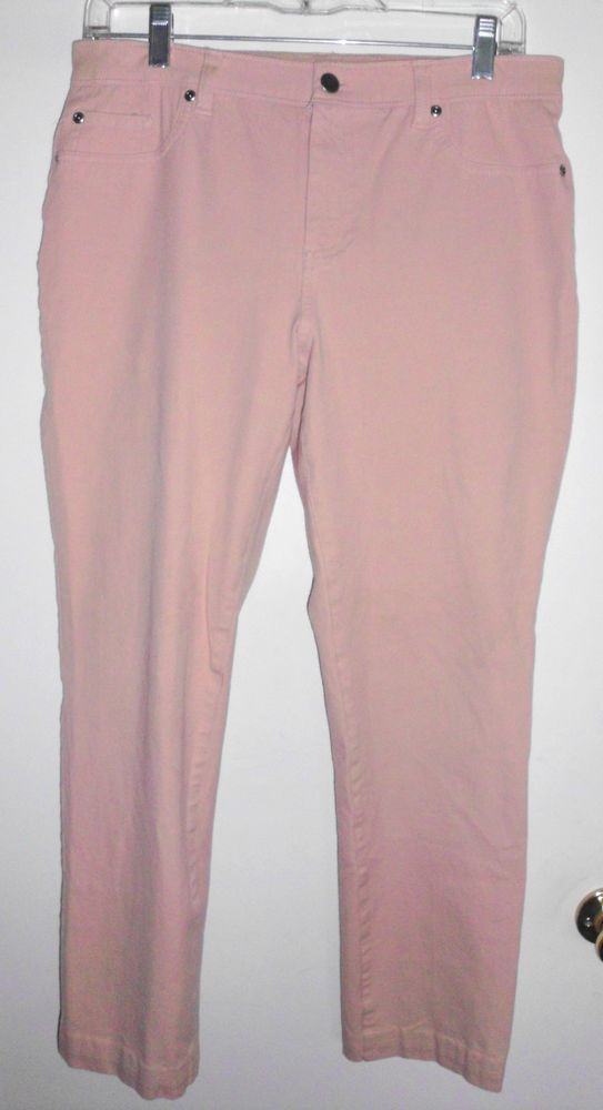 CHICO'S Peach Colored Stretch Skinny Jeans Jeggings Sz 1 (8 Med) Women's EUC #Chicos #StraightSkinny