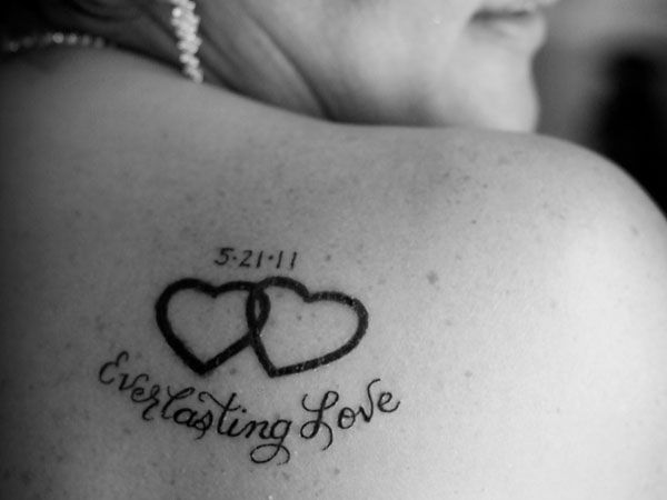 Minus the heart and add an infinity symbol