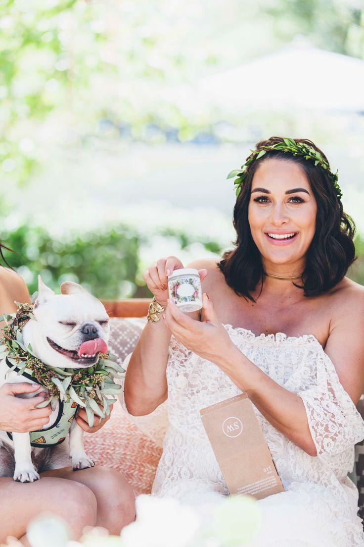 Tremaine Ranch - Brie Bella Boho Rustic Baby Shower - Blush Greenery Bohemian Lounge - WWE Total Bellas Nikki Bella - Arizona - Standard Wax Candle Favor