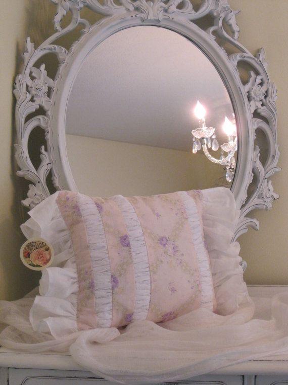 OOAK Shabby cottage decorative throw pillow by BrambleWoodANDivy